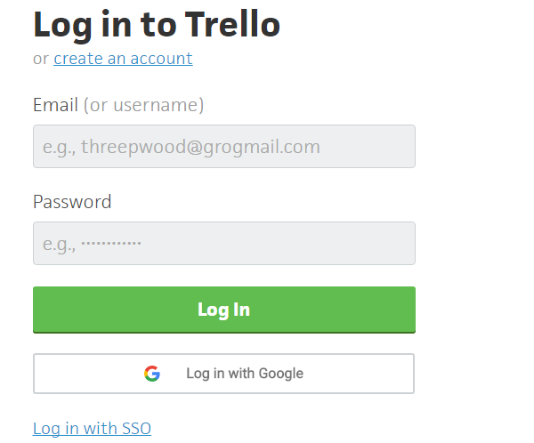 Sign up or Login to Trello