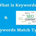 What is Keywords? What is Keyword Match Type? Types of Keyword?