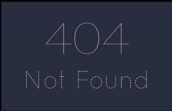 404 Error Page Redirection
