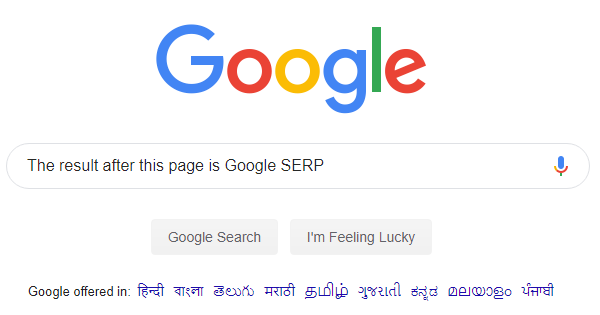 What is Google SERP?