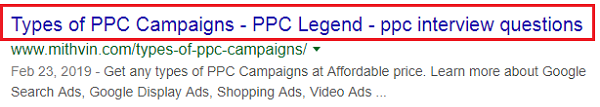 Ad copies for Google Search Ads
